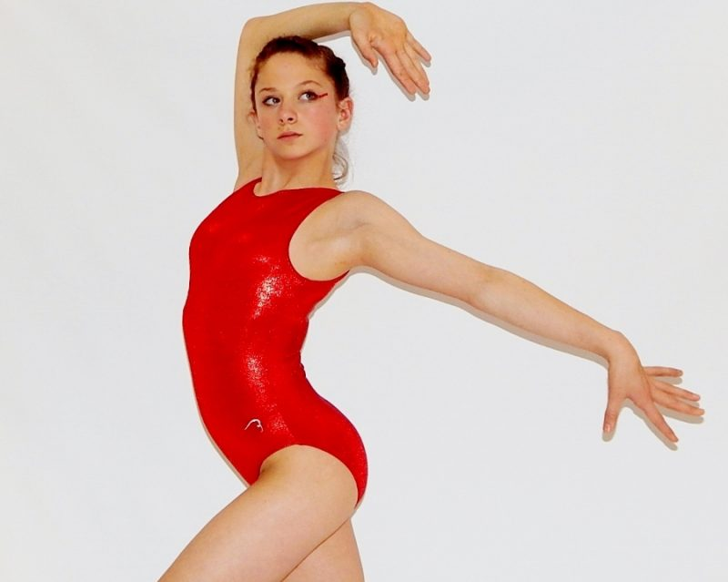 """Simply Tank"" Red Leotard by Flick Gymnastics"