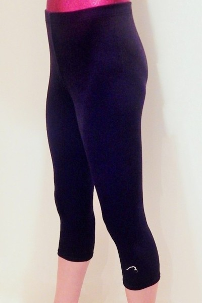 Black Velour Leggings by Flick Gymnastics