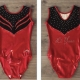 Red Gymnastics Leotard by Flick Gymnastics